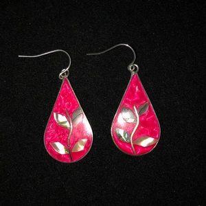 🆕VINTAGE Sterling Silver Abalone Earrings